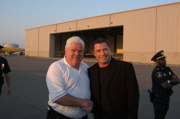 PGFD PIO with John Travolta after Ladder 49 promo