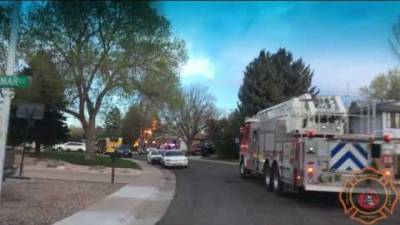 Arrival video with Littleton, Colorado Firefighters at a defensive house fire.