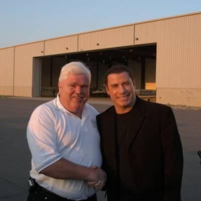 PGFD PIO with John Travolta after Ladder 49 promo