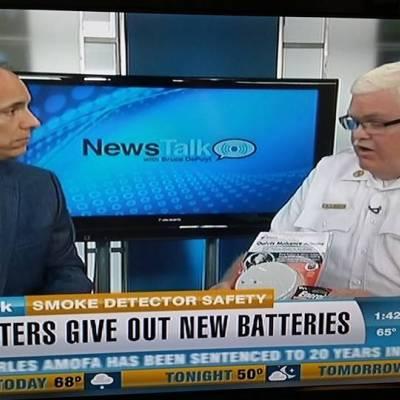 PIO Brady appears on set of local news