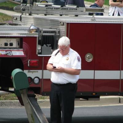 PIO Brady updates his Twitter account @PGFDPIO from incident scene