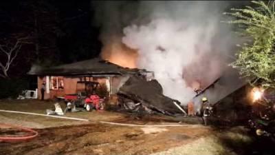 Early morning fire in Tioga Louisiana