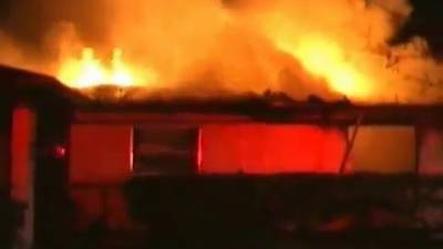 Temple Terrace Fire Dept. with heavy fire - aggressive attack
